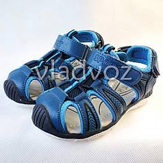 Детские босоножки сандалии для мальчика на мальчиков мальчику Tom.M синие Спорт 26р.