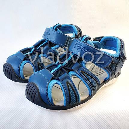 0c10444f3 Детские босоножки сандалии для мальчика на мальчиков мальчику Tom.M синие  Спорт 27р.,