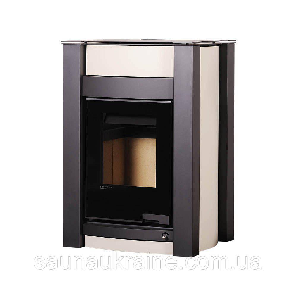 Отопительная печь-камин длительного горения Печь-камин AQUAFLAM VARIO KALMAR кремовый