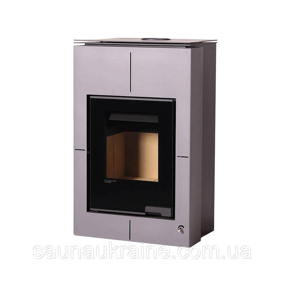 Отопительная печь-камин длительного горения AQUAFLAM VARIO SAPORO серый