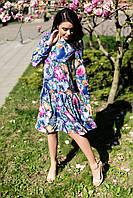Синее платье ADELINA