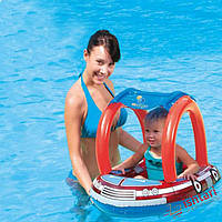 Надувной круг для плавания с сиденьем и тентом Bestway 34093