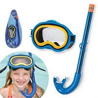 Набор для плавания детская маска с трубкой Intex 55942