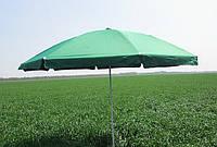 Зонт торговый пляжный 2,5м  однотонный с серебряным напылением (зеленый)