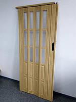 Дверь гармошка полуостекленная, 269 Дуб светлый, фото 1