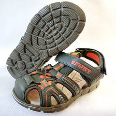 Детские босоножки сандалии для мальчика хаки Tom.m 26р.-31р. 3835