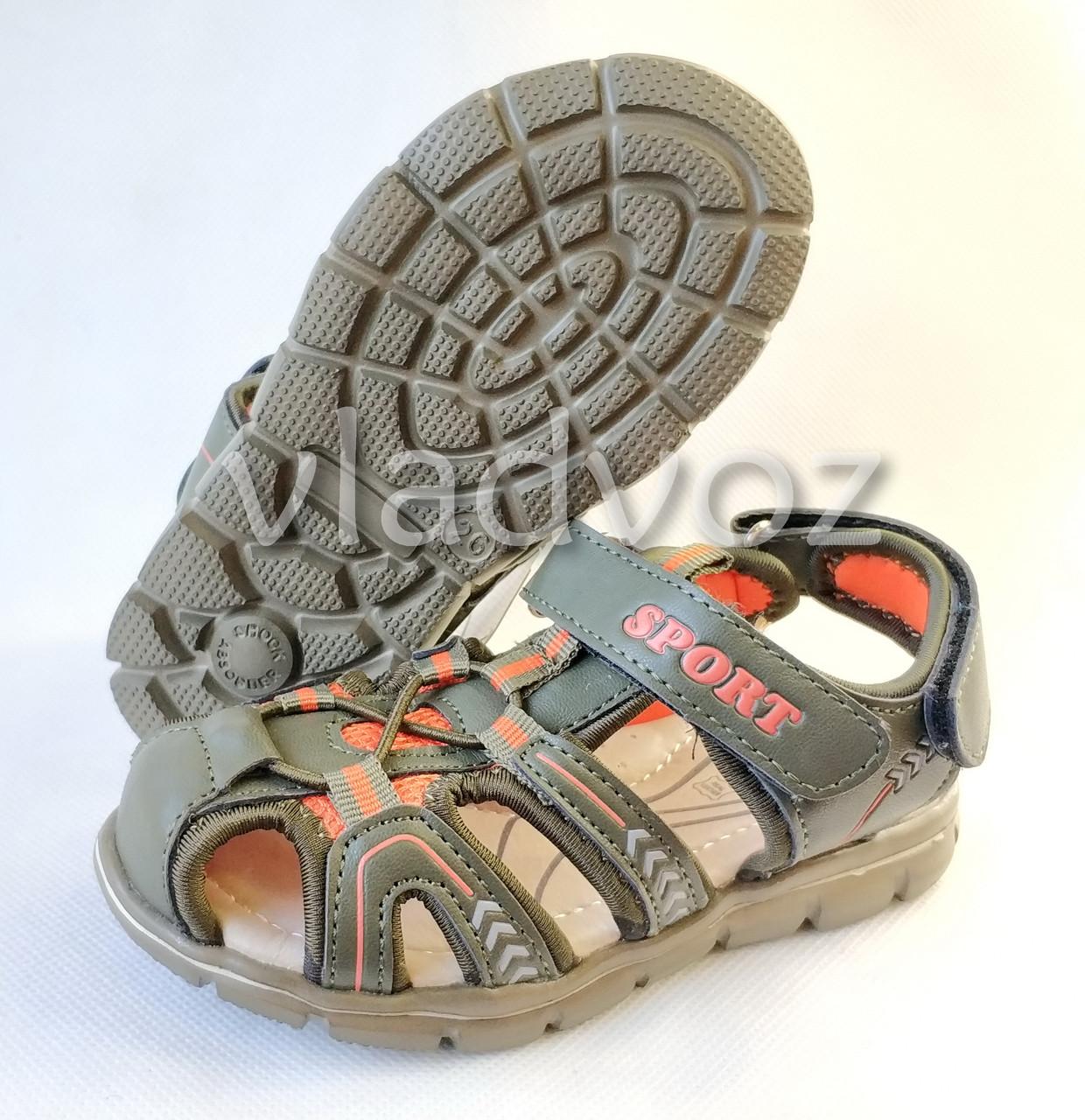 Детские босоножки сандалии для мальчика на мальчиков мальчику Tom.M хаки Спорт 30р.