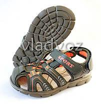 Детские босоножки сандалии для мальчика на мальчиков мальчику Tom.M хаки Спорт 30р., фото 3
