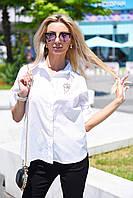 Женская рубашка с брошью , фото 1