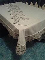 Льняная скатерть на большой стол, + 6 салфеток