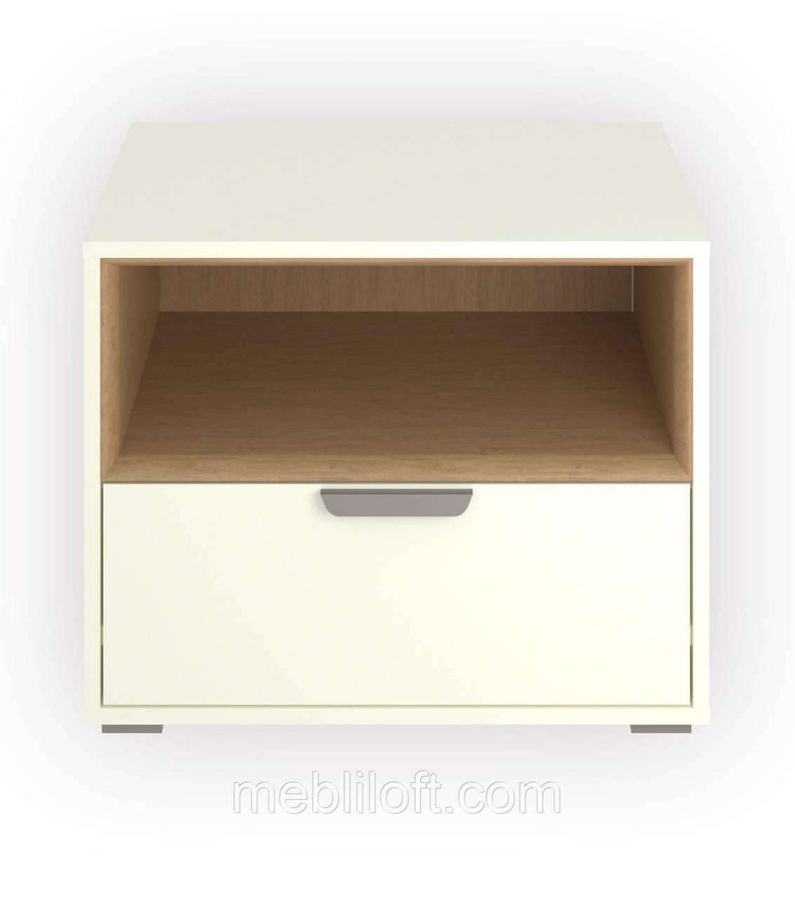 Шкафчик 1N1S  Арте / Arte белый / дуб каменный
