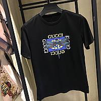 Жіноча вільна футболка в стилі Gucci з Бабкою чорна