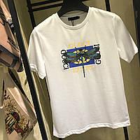 Женская свободная футболка в стиле Gucci со Стрекозой белая