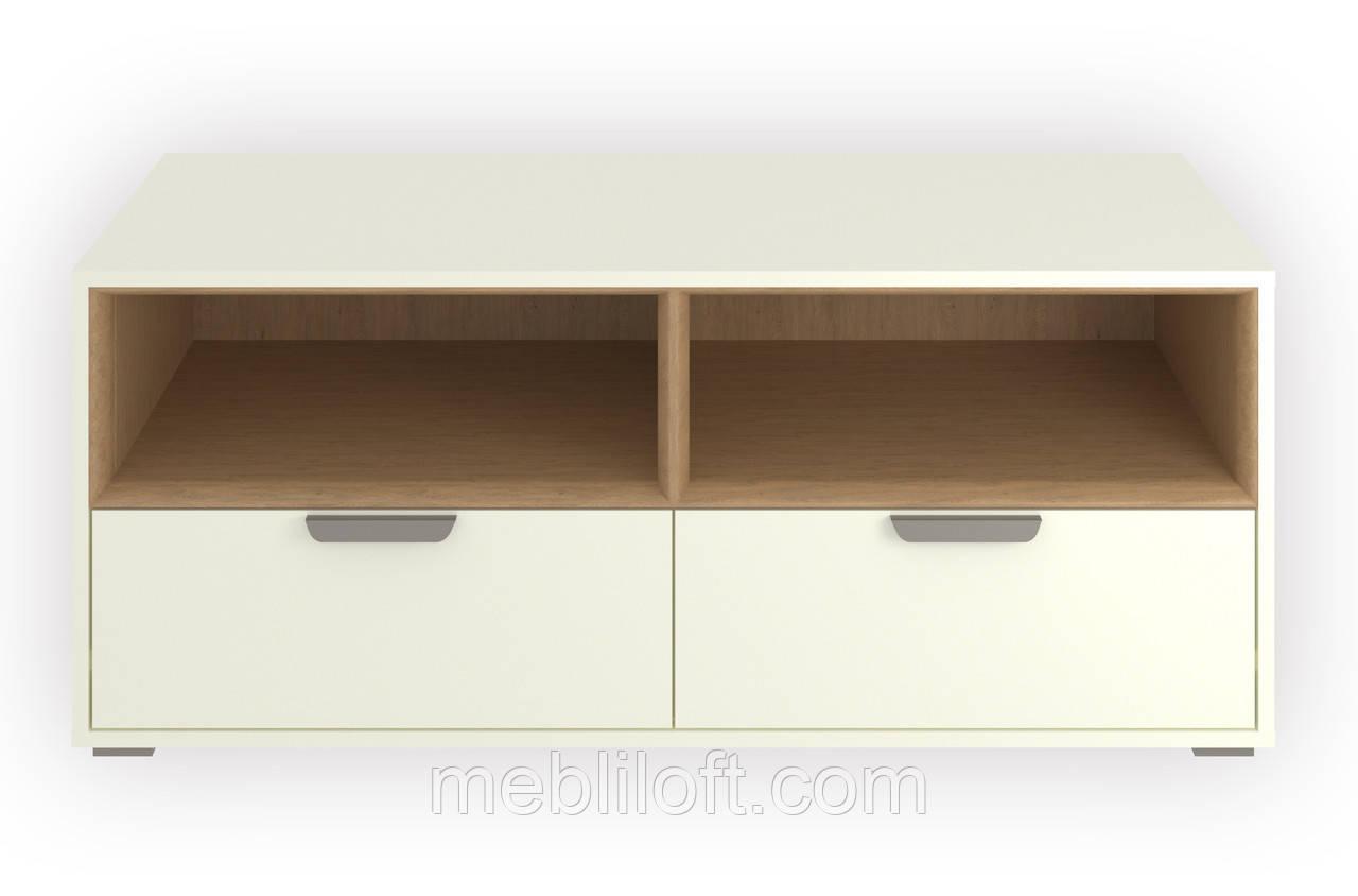 Шкафчик 2N2S  Арте / Arte белый / дуб каменный
