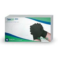 Перчатки смотровые нитрил черные 100 шт, S,Care 365 Централмед