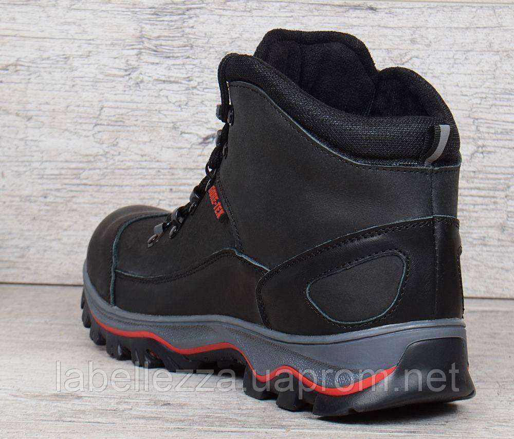 ... Ботинки мужские зимние кожаные на меху Ecco Gore-tex черные 20e84e191cec8