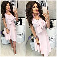 Платье в полоску ( арт. 104 ), ткань софт, цвет розовый, фото 1