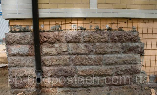 Облицовка цоколя искусственным камнем