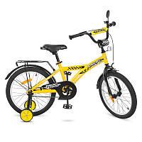 Детский двухколесный велосипед PROFI 18 дюймов Racer, желтый T1832