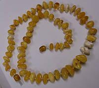 Классические бусы из светлого янтаря, фото 1