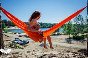 Гамак Levitate AIR оранжевый, парашютный нейлон
