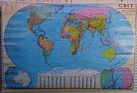 Карта Мира 110*160 Мапа Свiту