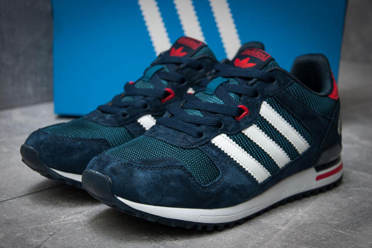 Кроссовки мужские Adidas ZX700, темно-синие (12103), р. 41-46