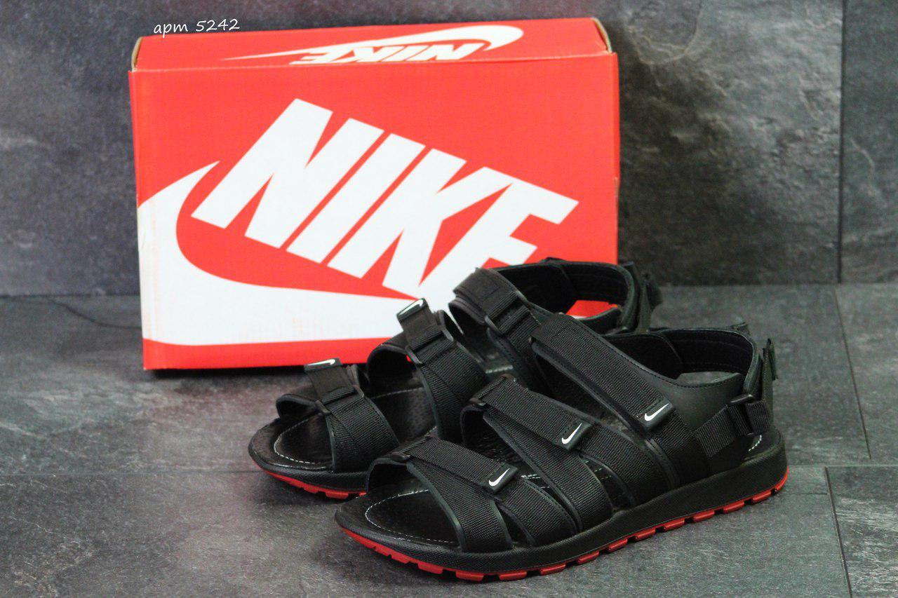 Мужские летние сандали,босоножки Nike,черные 44р