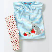 Комплект 2 в 1 для девочки Mouse and Strawberries