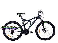 """Горный велосипед для подростков Azimut Blaster GD 24"""" Shimano ( 17 рама)"""