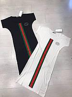 Короткое платье со вставкой по центру полочки и цельнокроеным рукавом