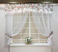 """Кухонные шторы """"Пенелопа"""" Розы"""