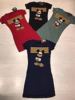 Короткое платье прилегающего силуэта с Микки-Маусом