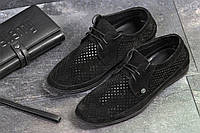 Мужские замшевые туфли классические в сеточку, фото 1