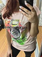 Футболка женская в ассортименте, 7км Розовый