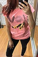 Женская футболка, Турция  Розовый