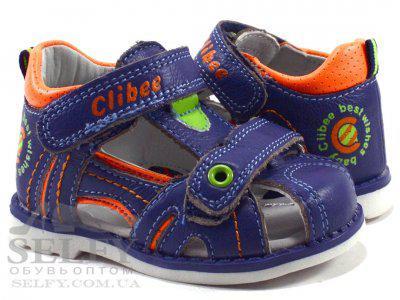 Босоножки детские Clibee F204blue-orange 19-24