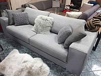 АКЦИЯ! Трехместный раскладной диван в серой ткани MANHATTAN  311 W, матрас 160 см, фабрика ALBERTA (Италия)