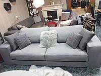 Трехместный раскладной диван в серой ткани MANHATTAN  311 W, матрас 160 см, фабрика ALBERTA (Италия)