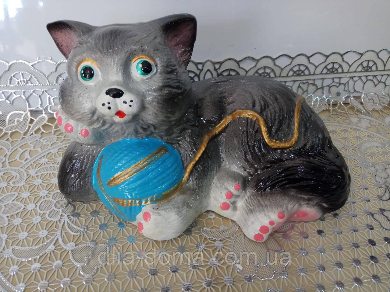 Скарбничка Кіт з клубком 18х25