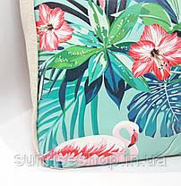 Пляжная сумка текстильная летняя Фламинго опт и розница, фото 3