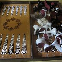 Набор для игры в шахматы, шашки, нарды ( размер доски 40 х 40 см)