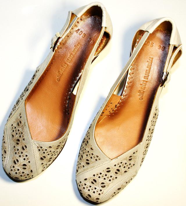 Женские летние туфли на толстом устойчивом каблуке 5 см. Прочная 7c28371df690e