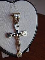 Серебряный крест  с черной эмалью, фото 1