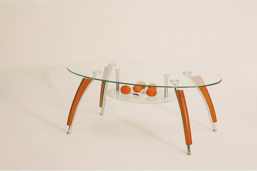 Журнальний кофейний стіл зі скла у вітальню Ada Halmar