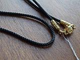 Шелковый шнурок с серебряным позолоченным замком, фото 5