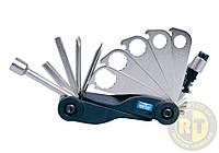 Вело мультиинструмент (кассета)- ключи, отвертки, шестигранники KING TONY 20A17MR