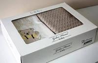 Комплект постельного белья Gelin Home ORGU + вязаный плед детское бежевый