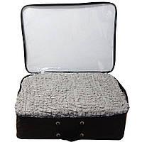 Чехол на угловой диван с креслом ESV серый