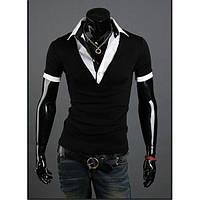 Футболка с воротником, мужская футболка, фото 1